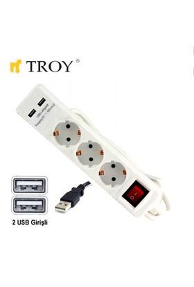 Troy 24023 Üçlü Grup Priz Ve Uzatma Kablosu