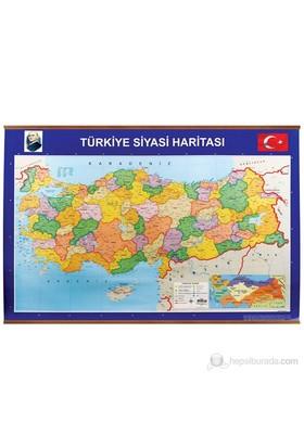 Panda 403 70X100 Türkiye Siyasi + Fiziki Çıtalı Harita