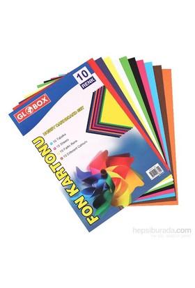 Globox Fon Kartonu A4 10- Renk