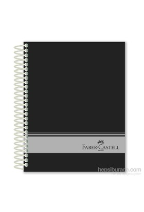 Faber-Castell Sert Kapak Sep.3+1 Siyah Defter 160 Yaprak (5075400406)