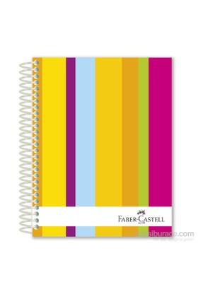 Faber-Castell Sert Kapak Sep.3+1+1 Renkli Çizgiler Defter 200 Yaprak (5075400503)