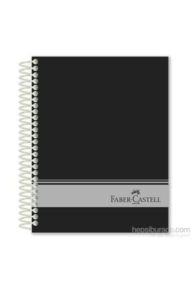 Faber-Castell Sert Kapak Sep.3+1+1 Siyah Defter 200 Yaprak (5075400506)