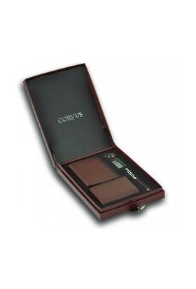 Corvus Tükenmez Kalem Kartvizitlik Anahtarlık Ve Cüzdan Seti Cv05