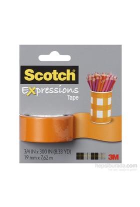 Scotch® Renkli Bant Turuncu 19mm x 7,62m