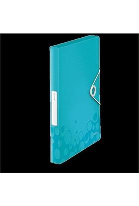 Leitz Active Wow Kalın Lastikli Dosya Metalik Buz Mavisi 46290051