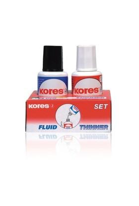Kores Solvent Bazlı Sıvı Silici Set (20ml.silici, 20 ml.solvent)