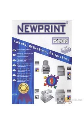 New Print Inkjet/laser Etiketi 99,1X38,1 mm