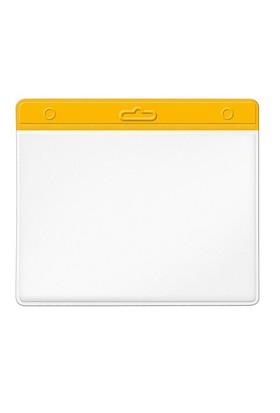 Mas 3510 Plastik Kart Poşeti - Yatay-54X86-Renkli Başlık-Sarı 100 Lü