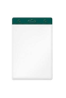 Mas 3512 Plastik Kart Poşeti - Dikey-54X86-Renkli Başlık-Yeşil 100 Lü