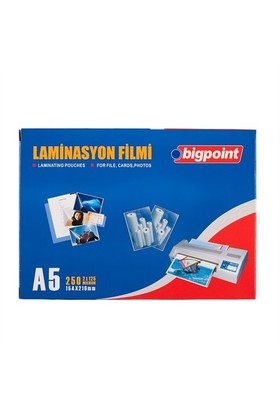 Bigpoint A5 Laminasyon Filmi 125 Micron Bp695