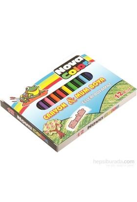Nova Color Nc-1112 Silinebilir Mum Pastel boya 12 Renk