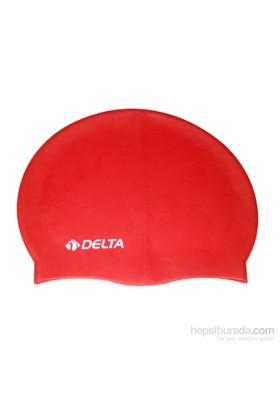 Delta Silikon Deluxe Düz Renk Yüzücü Bonesi - 25 Adets