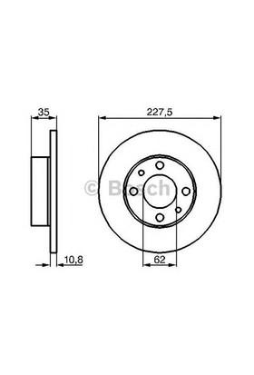Bosch 0986478063 Ön Fren Aynası M131 1600 (227X10.8X4dl) (0986479999)