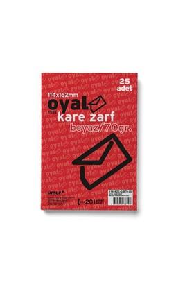 Oyal Zarf Kare 11.4X16.2 70Gr Beyaz Glorya 25 Li