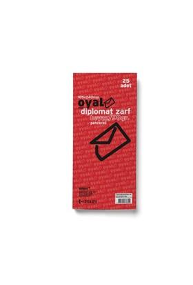 Oyal Zarf Diplomat 10.5X24 90Gr Beyaz Pencereli 25'li