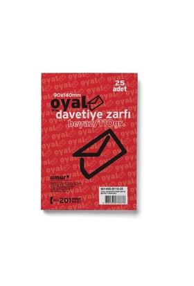 Oyal Zarf Davetiye 9X14 110Gr Beyaz 25'li