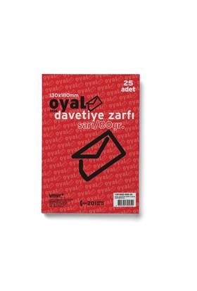 Oyal Buklet Zarf 13X18 Sarı 80 Gr Slk 25Li