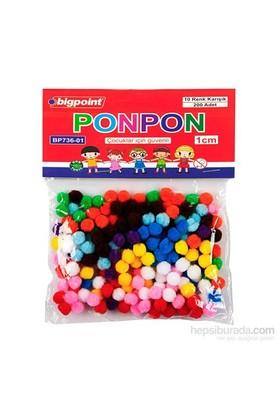 Bigpoint Ponpon Simli 1 Cm 10 Renk 200'Lü