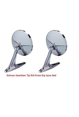 Schwer Amerikan Dış Ayna Yuvarlak Model Sağ Sol İkili Set