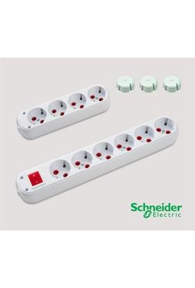 Schneider Electric 6'lı Anahtarlı 3m + 4'lü 3m Grup Priz (Çocuk Koruma Kapağı Hediye)