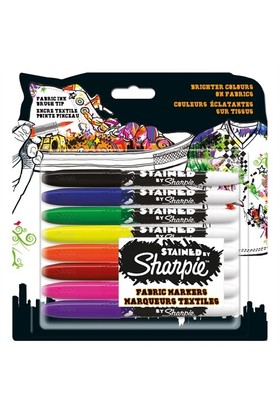 Sharpie Set Tekstil Kalemi Stained 8 Li 962151