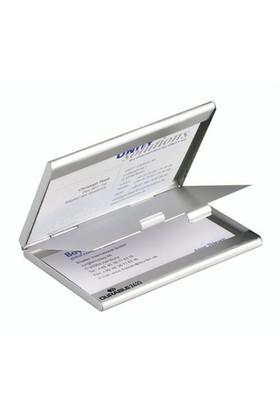 Durable Çift Taraflı Metal Kartvizitlik - Gümüş (2433)