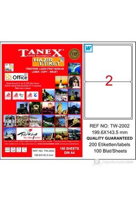Tanex TW-2002 199,6x143,5 mm Laser Etiket 100 Ad.