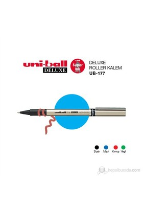 Uni-ball Deluxe Fine Roller Kalem (UB-177) 'lü Paket-Mavi