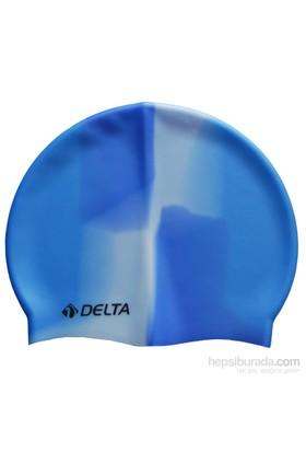 Delta Silikon Deluxe Gökkuşağı Desen Yüzücü Bonesi -10 Adet