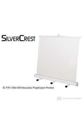 Silver Crest SC-P70 100x100cm Masaüstü Portatif Projeksiyon Perdesi