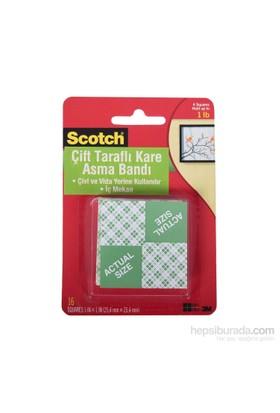 Scotch® Ağır Malzemeler İçin Çift Taraflı Yapışkan Köpük Kareler 16 adet / 2,5 x2,5cm