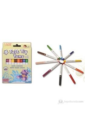 Vincent Felt Tip Pens +2 (İki Yaş ve Üstü İçin Keçeli Boya Kalemi) 10'Lu Paket