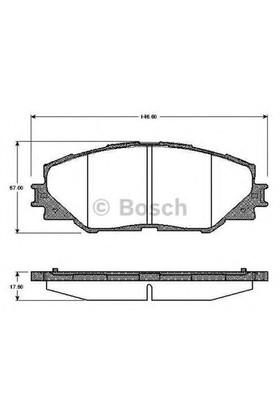 Bosch 0986Tb2942 Ön Balata Aurıs 1.4 D-1.4-1.6 Vvtı-2.0 D-2.2 D 03/07=>