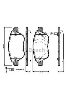 Bosch 0986Tb2960 Ön Balata Corsa D (Küçük Tip) 1.0-1.2-1.3 Cdtı-1.4 07/06=>