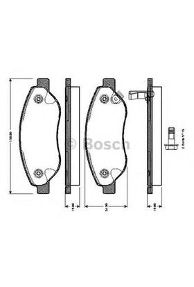 Bosch 0986Tb3055 Ön Balata Corsa D 1.7 Cdtı 06=> ( Gdb1713 )