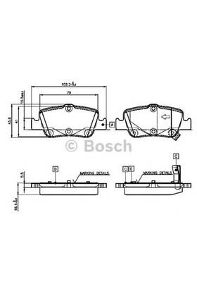 Bosch 0986Tb3070 Arka Balata Aurıs-Corolla 1.4D-1.4 Vvtı-1.6 Vvtı-2.0D-4D-2.2D 07=>