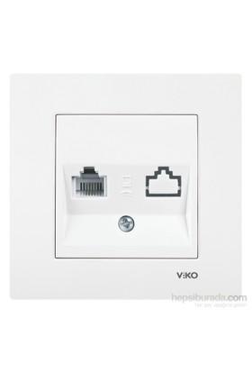 Viko Karre Tekli Nümeris Cat3 - Beyaz