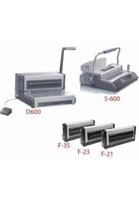 Qupa D600 3'lü Elektrikli,Plastik ve Tel Spiral Cilt Makinası