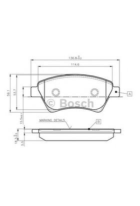 Bosch 0986Tb2440 Ön Balata Mgn Iı 1.5-1.9 Dcı 11.02=> Scenıc 05=> Kng 01=>
