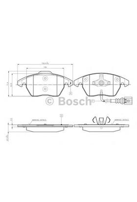 Bosch 0986Tb2457 Ön Balata Fişli Caddy Iıı 04=> Golf Iv V Vı 97=> Jetta Passat 05=> Polo 09=> Octavıa 04=>