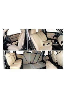 Z tech Volkswagen Bora Krem (Bej) renk Araca özel Oto Koltuk Kılıfı