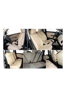 Z tech Hyundai i20 Krem (Bej) renk araca özel oto koltuk kılıfı