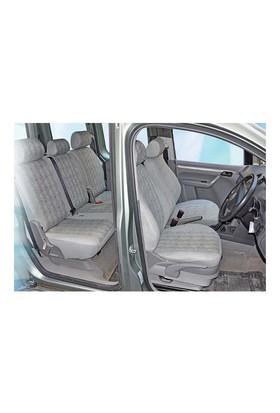 Z tech Volkswagen Caddy 2010 ve sonrası gri renk Araca özel Oto Koltuk Kılıfı