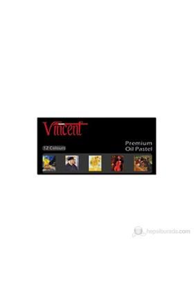 Vincent Yağlı Pastel 12'li Premium Set