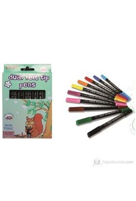 Vincent Dual Felt Tip Pens Çift Taraflı Keçeli Boya Kalemi