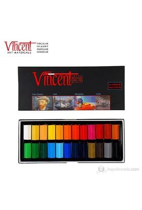 Vincent Soft Pastel 24'lü Set Yarım Boy