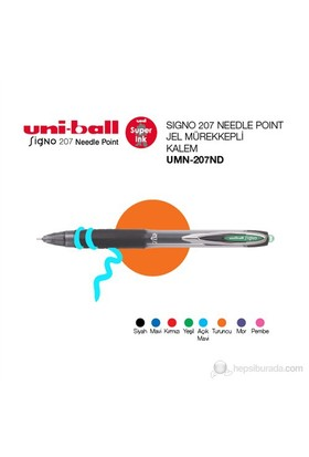 Uni-ball Signo 207 Needle Point İğne Uçlu Jel Mürekkepli Kalem 0,7 1'li (UMN-207ND)