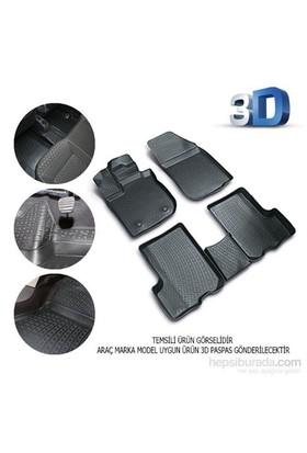 Nissan Qashqai 2014 Sonrası 3D Kauçuk Paspas Siyah