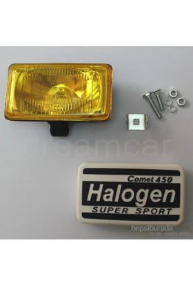 Comet 450 Dikdörtgen Sarı Lens Sis Farı 160x90mm
