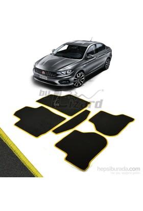 Fiat Egea Halı Paspas Seti Sarı Kenarlı-Siyah